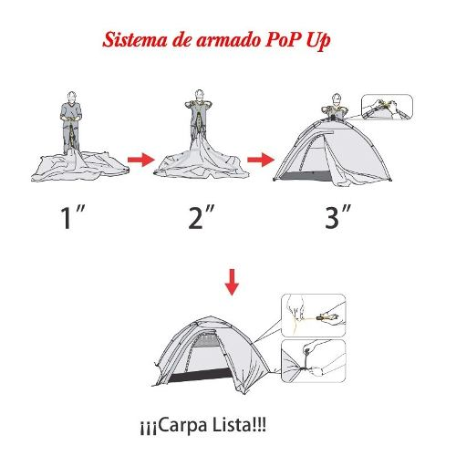 Carpa Automatica Outdoors Nawata 4 Personas - Local Palermo 3