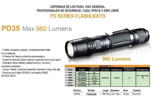 Linterna Fenix Pd35 + Cargador + Bateria 18650 Local Palermo 2