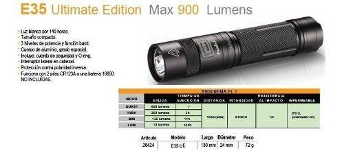 Linterna Fenix E35 Ue 1000 Lumens Sumergible - Local Palermo 2