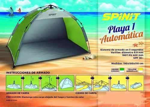 Carpa Playera Autoarmable En 3 Segundos Spinit Local Palermo 4