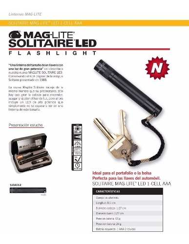 Linterna Maglite Solitaire Led Made In Usa - Local Palermo 2