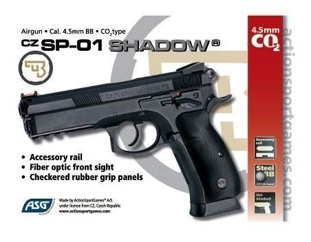 Pistola Asg Cz Sp01 Shadow + 5 Co2 + 600 Balines En Palermo 3