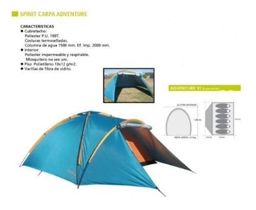 Carpa Iglu 6 Personas Spinit Adventure Garanti Local Palermo 3