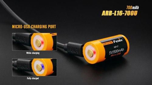 Bateria Pila Recargable Fenix 16340 700mah 3.6v - En Palermo 2
