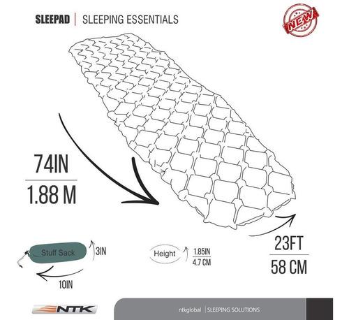Colchoneta Inflable Ntk Sleepad Ultralight Aislante -palermo 6